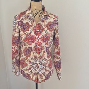 J.Crew dress shirt paisley floral Perfect brand 8